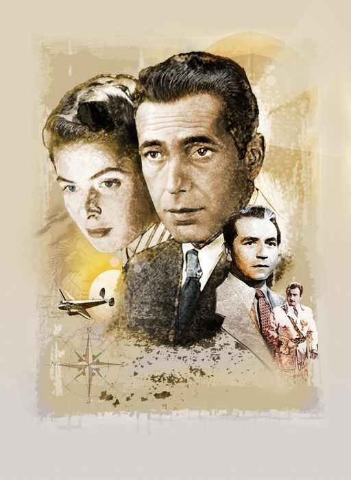Ingrid Bergman, Humphrey Bogart por jmstudio